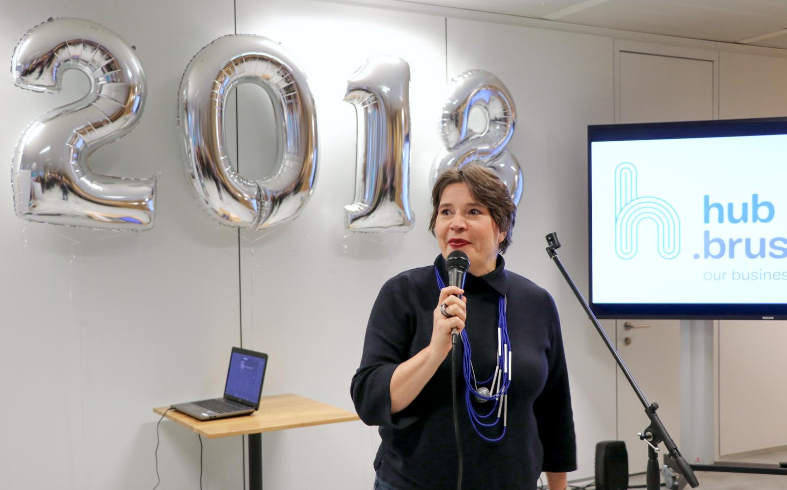 Discours de Cécile Jodogne lors de la réception du Nouvel an hub.brussels