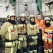 Hommage des pompiers-ambulanciers du SIAMU